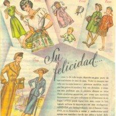 Catálogos publicitarios: CURSO EVA DE CORTE Y CONFECCION / PUBLICIDAD / AÑO 1953. Lote 27810334