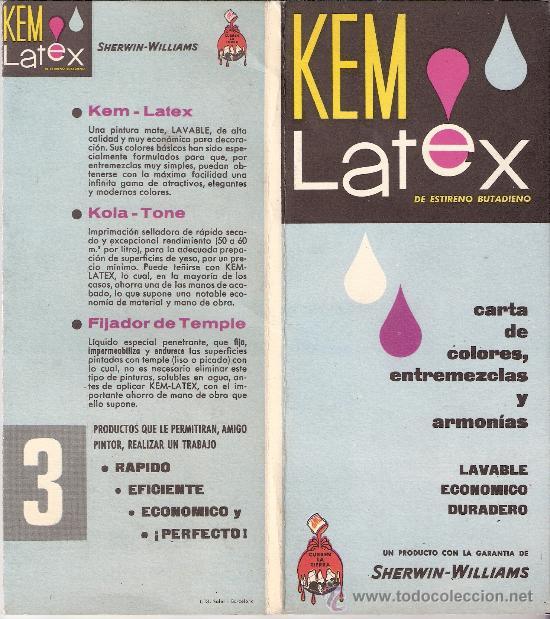 kem latex. carta de colores, entremezclas y arm - Comprar Catálogos ...
