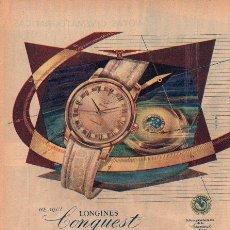 Catálogos publicitarios: PUBLICIDAD ANTIGUA. RELOJES. LONGINES CONQUEST. 1956.. Lote 28231951