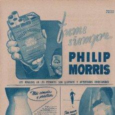 Catálogos publicitarios: PUBLICIDAD ANTIGUA. VARIOS. PHILIP MORRIS. SPORTEX. BELCOR. 1955.. Lote 28322006