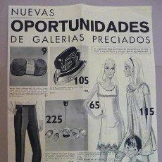 Catálogos publicitarios: CATALOGO GALERIAS PRECIADOS,VENTA POR CORRESPONDENCIA-MADRID AÑO 1969. Lote 28349425
