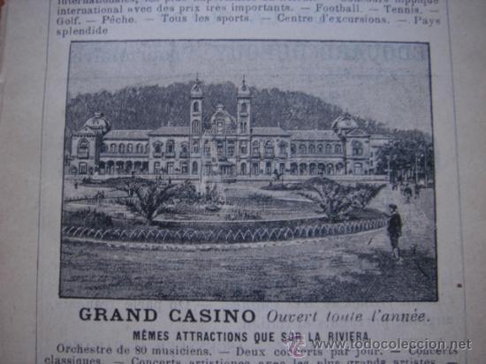 Catálogos publicitarios: HOJA PUBLICITARIA DEL GRAN CASINO DE SAN SEBASTIAN, PAIS VASCO, PARIS, 1909, GUÍA JOANNE - Foto 4 - 28354739
