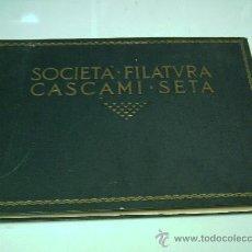 Catálogos publicitarios: SOCIETÀ PER LA FILATURA DEI CASCAMI DI SETA-SEDE MILANO-FUNDATA 1872-CATALOGO DE SEDES Y FABRICAS. Lote 28536484