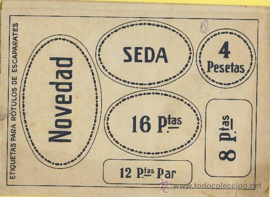 ARTES GRAFICAS-MUESTRARIO-1922- ETIQUETAS PARA ROTULAR ESCAPARATES F,GUILLEN CARBONELL VALENCIA 32 P (Coleccionismo - Catálogos Publicitarios)
