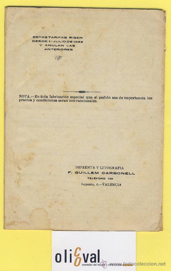 Catálogos publicitarios: Artes graficas-Muestrario-1922- etiquetas para rotular escaparates f,guillen carbonell valencia 32 p - Foto 2 - 28629706
