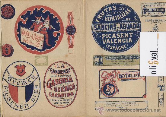 Catálogos publicitarios: Artes graficas-Muestrario-1922- etiquetas para rotular escaparates f,guillen carbonell valencia 32 p - Foto 5 - 28629706