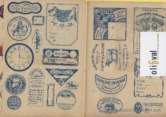 Catálogos publicitarios: Artes graficas-Muestrario-1922- etiquetas para rotular escaparates f,guillen carbonell valencia 32 p - Foto 6 - 28629706