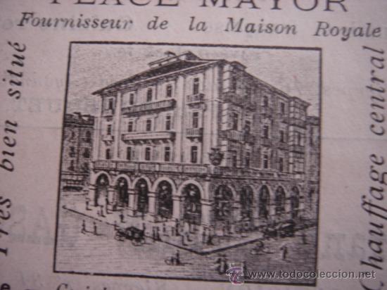 Catálogos publicitarios: HOJA PUBLICITARIA DE CAFE HOTEL RESTAURANTE MODERNO DE VALLADOLID, PARIS, 1909, GUÍA JOANNE. - Foto 2 - 28628362