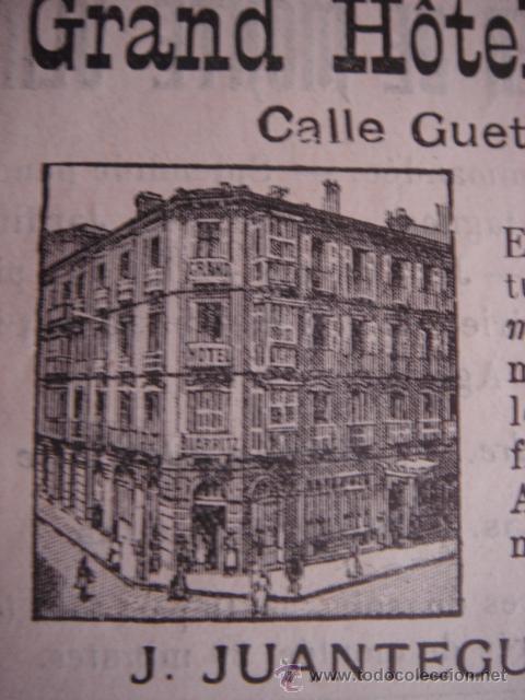 Catálogos publicitarios: HOJA PUBLICITARIA DEL HOTEL BIARRITZ DE SAN SEBASTIÁN, PARIS, 1909, GUÍA JOANNE. - Foto 4 - 28628093