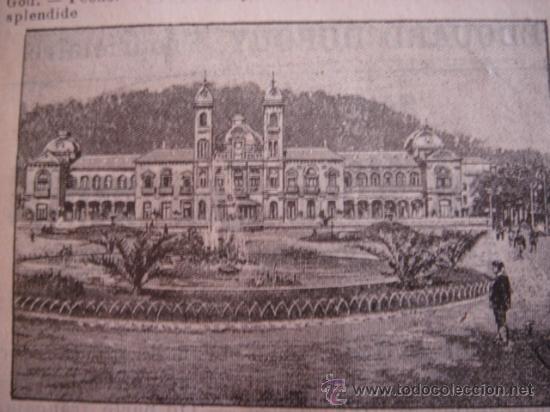 Catálogos publicitarios: HOJA PUBLICITARIA DE SAN SEBASTIÁN Y SU GRAN CASINO, PARIS, 1909, GUÍA JOANNE. - Foto 3 - 28628507
