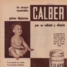 Catálogos publicitarios - PUBLICIDAD ANTIGUA. HIGIENE. POLVOS HIGIÉNICOS CALBER. 1958. - 28891388