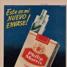 Catálogos publicitarios: PUBLICIDAD ANTIGUA. CIGARRILLOS. PHILIP MORRIS. 1956.. Lote 28911398