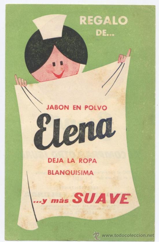FOLLETO *JABON EN POLVO ELENA* - CON VALE GRATIS POR LA COMPRA (Coleccionismo - Catálogos Publicitarios)