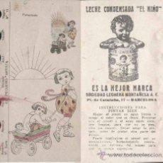 Catálogos publicitarios: PUBLICIDAD DE LECHE CONDENSADA