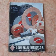 Catálogos publicitarios: CATALOGO MANUAL COMERCIAL FABREGAT,SA DE BARCELONA,MUELAS Y ABRASIVOS,AÑO 1954. Lote 30031893