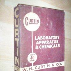 Catálogos publicitarios: CURTIN: LABORATORY APPARATUS % CHEMICALS, CATALOG 40 , 1961 , 1008 PAGS. Lote 30109839