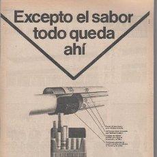 Catálogos publicitarios: PUBLICIDAD ANTIGUA. CIGARRILLOS. PHILIP MORRIS MULTIFILTER. 1972.. Lote 30147341