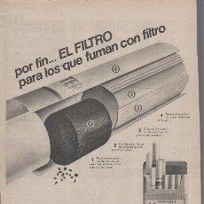 Catálogos publicitarios: PUBLICIDAD ANTIGUA. CIGARRILLOS. PHILIP MORRIS MULTIFILTER. 1971.. Lote 30147852