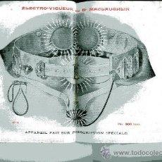 Catálogos publicitarios: ELECTRO VIGUEUR DU DR MACLAUGHLIN ORTOPEDIA 86 PAGS. Lote 30274273