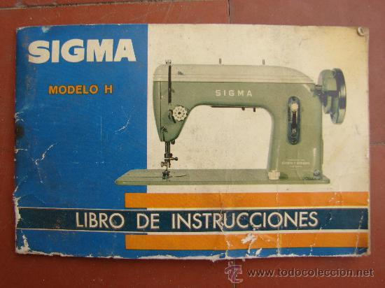 Libro de instrucciones. maquina de coser sigma. - Vendido