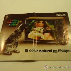 Catálogos publicitarios: CATALOGO TV TELEVISOR PHILIPS AÑOS 70'. Lote 30377414