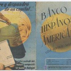 Cataloghi pubblicitari: FOLLETO *BANCO HISPANO AMERICANO* - MUTIPLIQUE SU DINERO...!!!. Lote 30349351
