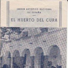 Catálogos publicitarios: EL HUERTO DEL CURA DE ELCHE -- JARDÍN ARTÍSTICO NACIONAL DE ESPAÑA -- 1951. Lote 30777264
