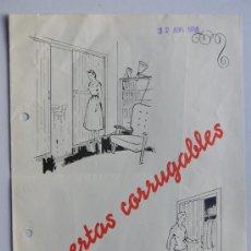 Catálogos publicitarios: PUERTAS PLEGABLES FABREGA / AÑO 1958 / FOLLETO PUBLICIDAD COMERCIAL / DETALLE Y CARACTERISTICAS. Lote 30665322