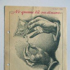 Catálogos publicitarios: METAN - 14 DISOLVENTE DE PETROLEOS / VALENCIA 1958 / FOLLETO PUBLICIDAD COMERCIAL / CARACTERISTICAS. Lote 30669335