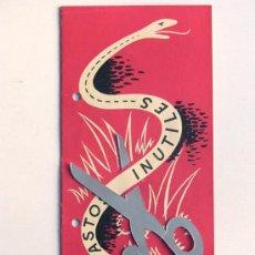 Catálogos publicitarios: BOMBA DE AGUA PRAT / AÑO 1958 / FOLLETO PUBLICIDAD COMERCIAL / CARACTERISTICAS. Lote 30669466