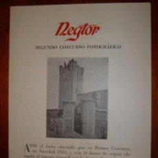 Cataloghi pubblicitari: NEGTOR SENGUNDO CONCURSO FOTOGRAFICO AÑO 1954. Lote 30694393