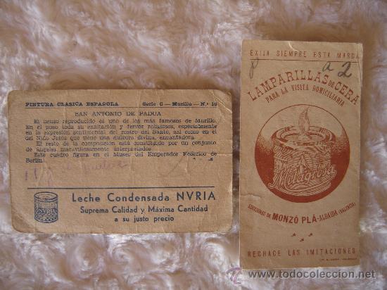 Catálogos publicitarios: ANTIGUAS TARJETAS PUBLICITARIAS CON LA MILAGROSA DE MADRID Y SAN ANTONIO DE PADUA -BERLIN - Foto 4 - 30885011