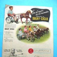 Catálogos publicitarios: CATALOGO - SULKY - CICLO. Lote 30971534