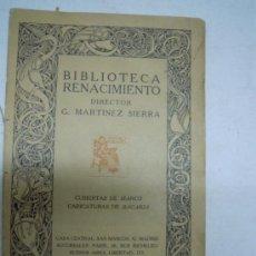 Catálogos publicitarios: CATALOGO BIBLIOTECA RENACIMIENTO 1915, CARICATURAS DE BAGARIA, FOTOGRAFIAS DE ESCRITORES, FACSIMILES. Lote 31015019