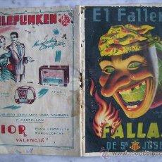 Catálogos publicitarios: EL FALLERO,FALLAS DE SAN JOSE AÑO 1955.. Lote 31153703