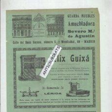 Catálogos publicitarios: PUBLICIDAD MODERNISTA.AÑO 1904.LLEIDA.LERIDA.FELIX GUIXA.BALANZAS.ROMANAS.BASCULAS. . Lote 31337046
