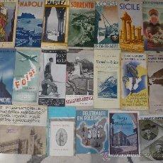 Catálogos publicitarios: 20 CATALOGOS PUBLICITARIOS DE VIAJES POR EUROPA EN ITALIANO Y FRANCES. AÑOS 30.. Lote 31463551
