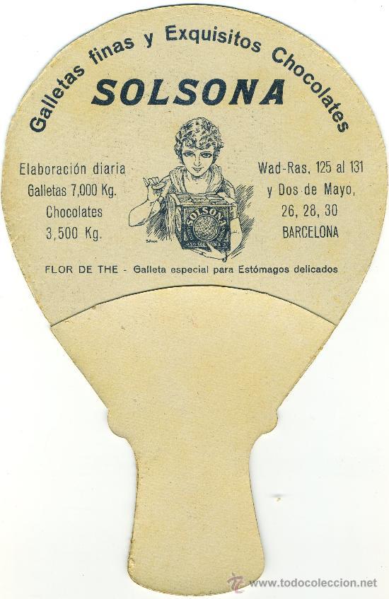 Catálogos publicitarios: Abanico Publicitario Antiguo de Cartón - Foto 2 - 43387451