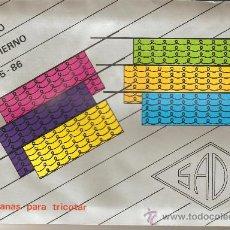 Catálogos publicitarios: CATÁLOGO LANAS PARA TRICOTAR SADE.OTOÑO INVIERNO 85-86. Lote 31944406