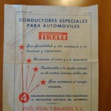 Catálogos publicitarios: DIPTICO PUBLICIDAD PIRELLI, CONDUCTORES ESPECIALES PARA AUTOMOVILES. Lote 31997366