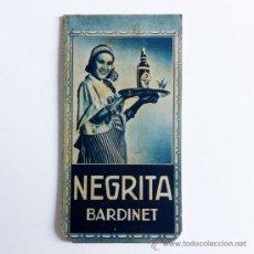 Catálogos publicitarios: RHUM NEGRITA BARDINET - LIBRETA PUBLICITARIA - SPAIN 1940. Lote 32011463