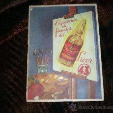 Catálogos publicitarios: FOLLETO PUBLICITARIO DE LICOR 43. Lote 32098801