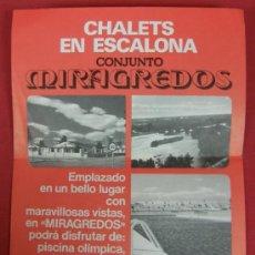 Catálogos publicitarios: FOLLETO HOJA PASQUIN PUBLICIDAD PROMOCIÇON INMOBILIARIA CHALETS EN ESCALONA CONJUNTO MIRAGREDOS. Lote 32408209
