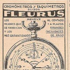Catálogos publicitarios: PUBLICIDAD RELOJ FLEURUS - 1930. Lote 32438880