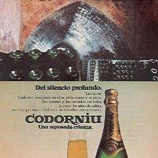 Catálogos publicitarios: PUBLICIDAD ORIGINAL EN PRENSA 1975: CODORNIU - REFª (JC) PUBLI 4. Lote 32512528