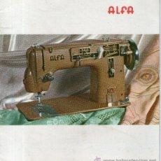 Catálogos publicitarios: CATALOGO DE LAS MAQUINAS DE COSER ALFA, EIBAR ESPAÑA. Lote 32651446
