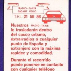 Catálogos publicitarios: FOLLETO PUBLICITARIO - RADIO TAXIS SICAR POLO - TARRAGONA - TGN - AÑOS 80. Lote 32704747