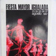 Catálogos publicitarios: PROGRAMA DE LA FIESTA MAYOR DE IGUALADA. AÑO 1967.. Lote 32804401