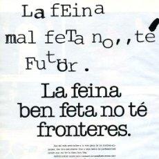 Cataloghi pubblicitari: PUBLICIDAD PRENSA 1991 . GENERALITAT DE CATALUNYA. Lote 32866007