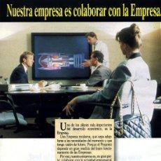 Catálogos publicitarios: PUBLICIDAD PRENSA 1991 - BANCO GUIPUZCOANO / CITIBANK - EMPRESA PLUMA ESCRITURA -FOTO ADICIONAL. Lote 32875030